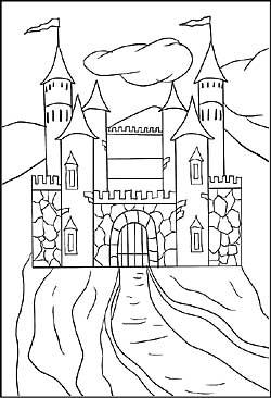 Ritter Und Burgen Malvorlagen Ausmalbilder