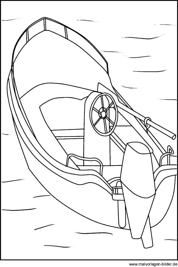 Motorboot malvorlage  Motorboot - Malvorlagen und Ausmalbilder zum Ausdrucken