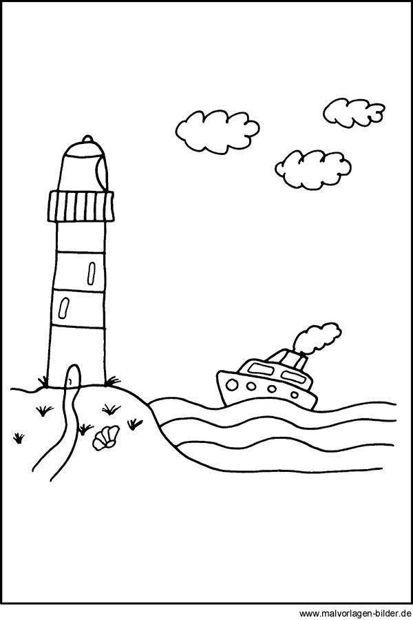 Malvorlagen Leuchtturm - kostenlose Ausmalbilder für Kinder