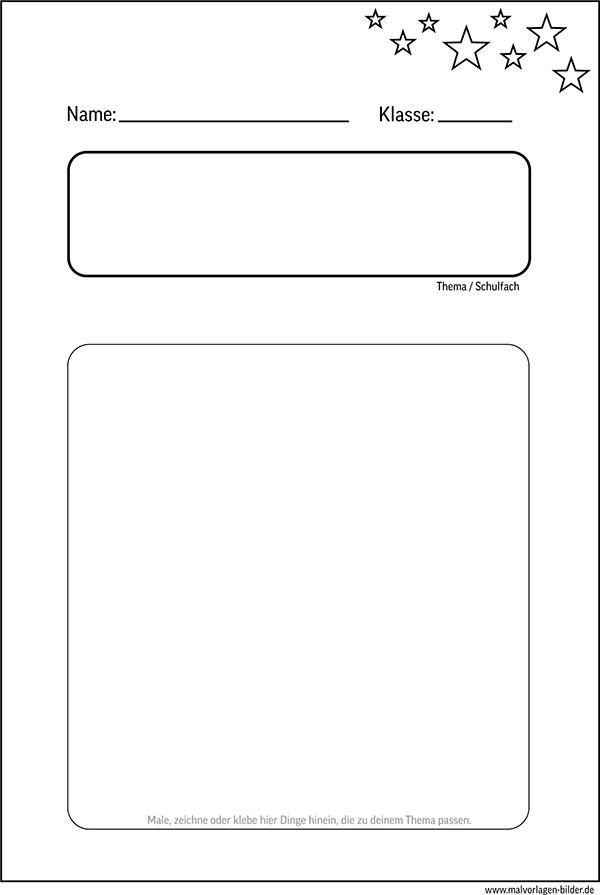 Deckblatt Für Die Schule Zum Gratis Ausdrucken