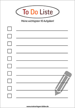 To Do Liste zum gratis Download