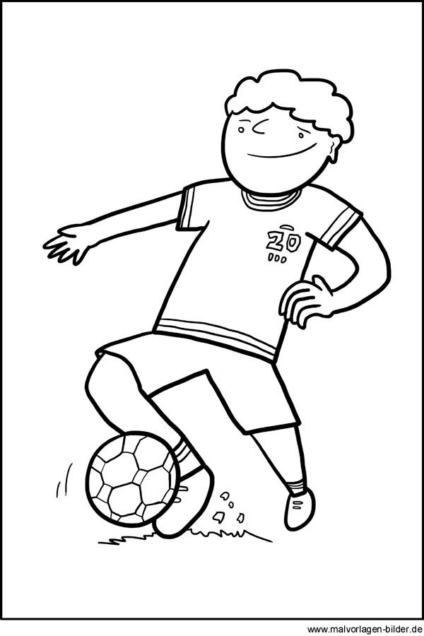 Fußball - Gratis Ausmalbild zum Ausdrucken