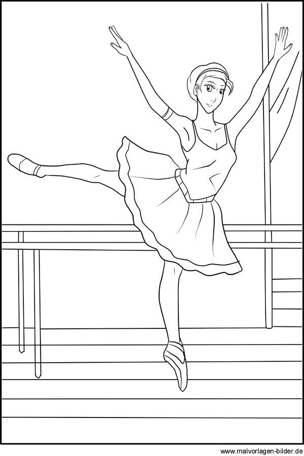 Ballett - Ballerina - Kostenlose Malvorlagen und Ausmalbilder