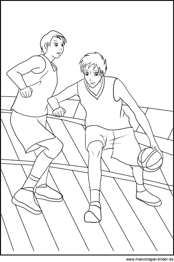 Basketball Ausmalbilder und Sport Malvorlagen zum Ausmalen