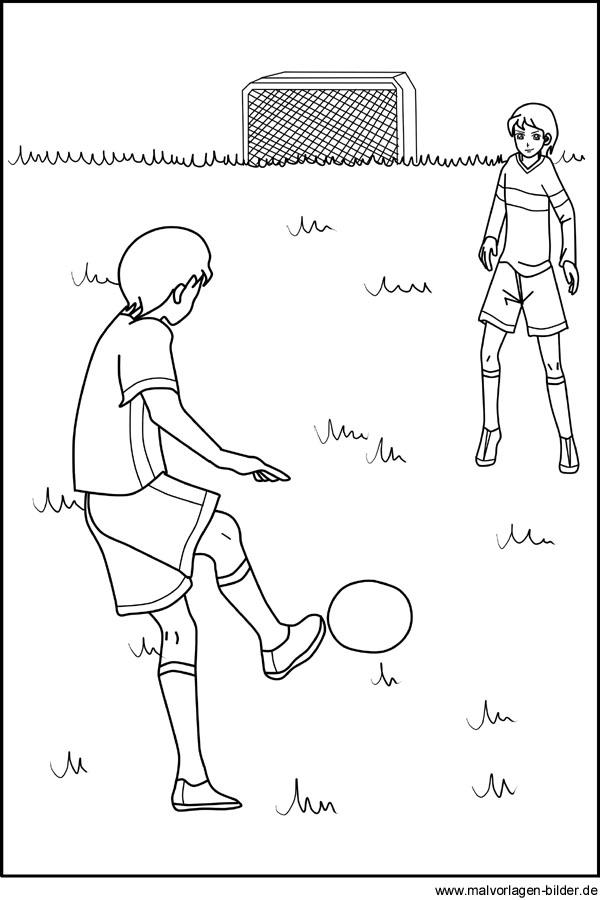 Fußball Sport Ausmalbild Zum Ausdrucken