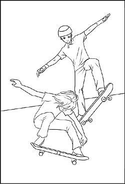 schipper 609240519 malen nach zahlen skateboarder f r