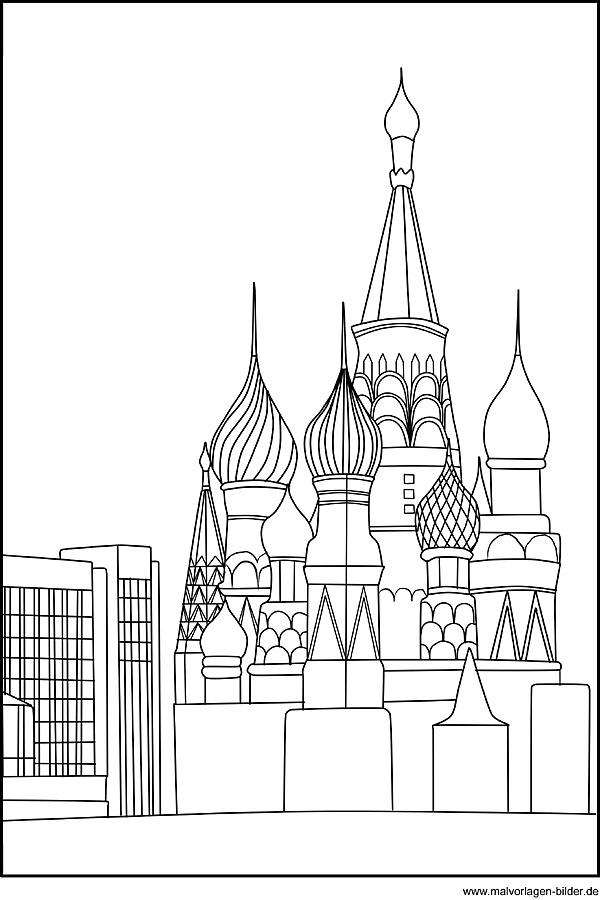 Ausmalbild Basilius Kathedrale In Moskau