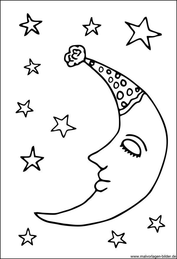 Mond und Sterne | Window Color Bilder
