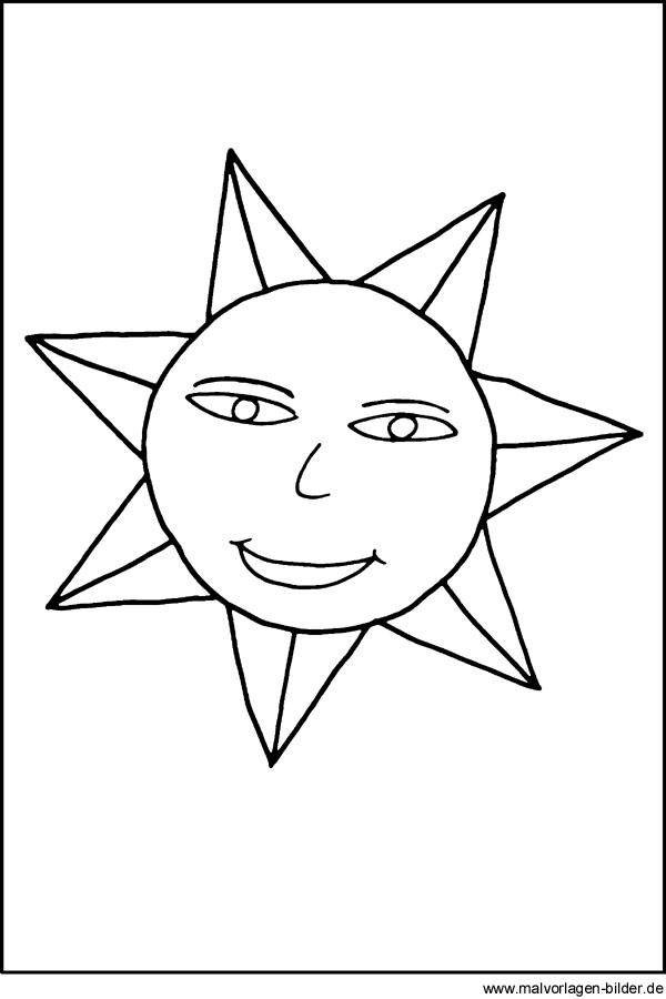 Sonne malvorlage  Sonne - kostenlose Malvorlagen | Window Color Bilder