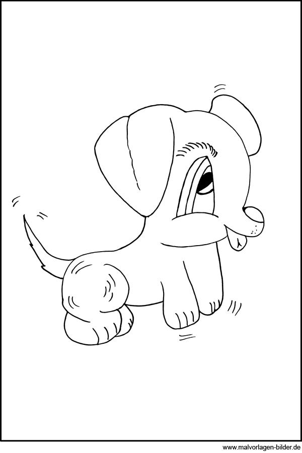 Kleiner Süsser Hund Malvorlage Und Ausmalbild