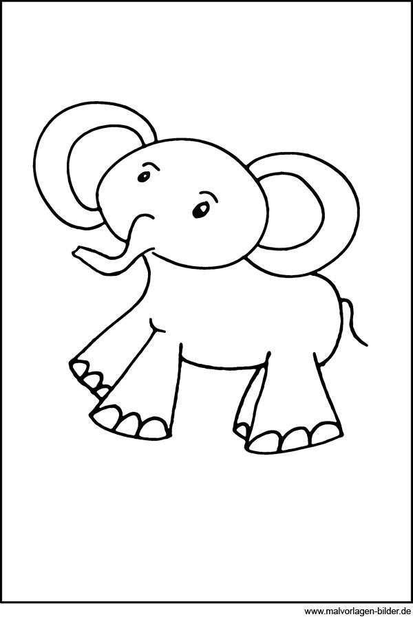 Malvorlagen für 3 jährige - Der Elefant