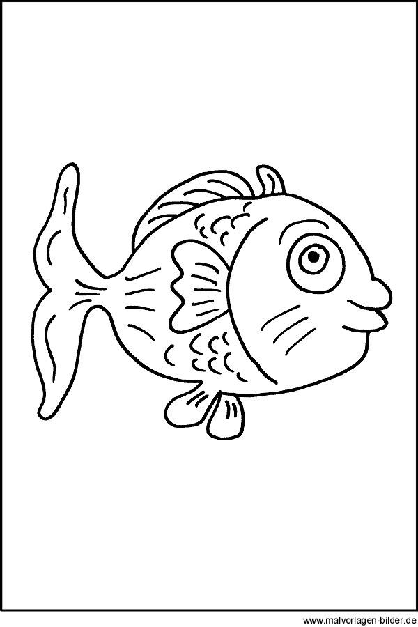 Malvorlage Fisch Kostenloses Ausmalbilder Für Kinder