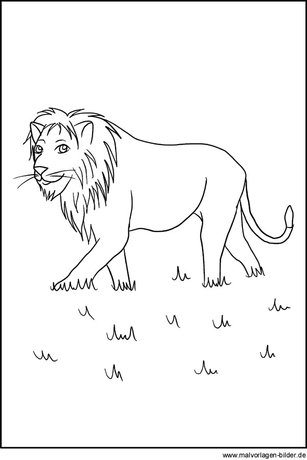 Gratis Malvorlage Löwe - kostenloses Ausmalbilder für Kinder