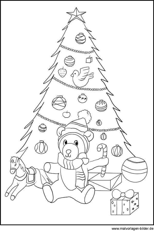 weihnachtsbaum ausmalbilder f r kinder zum kostenlosen ausdrucken. Black Bedroom Furniture Sets. Home Design Ideas
