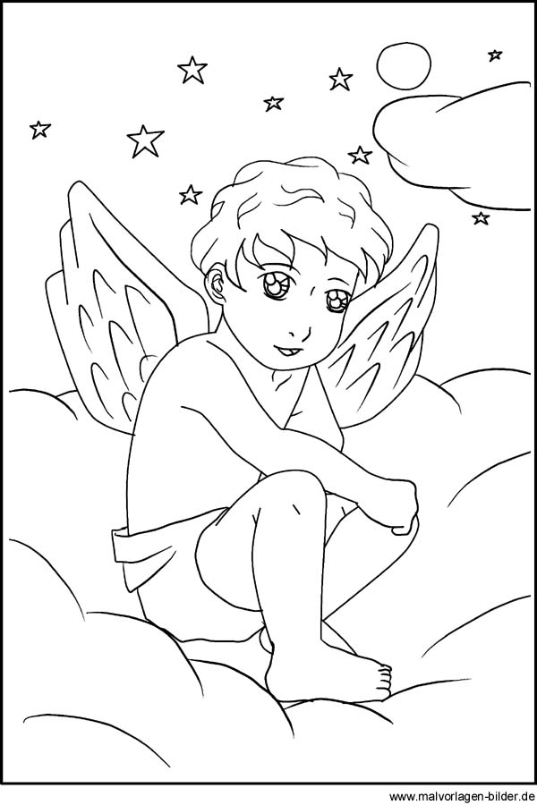 Free coloring pages of engel