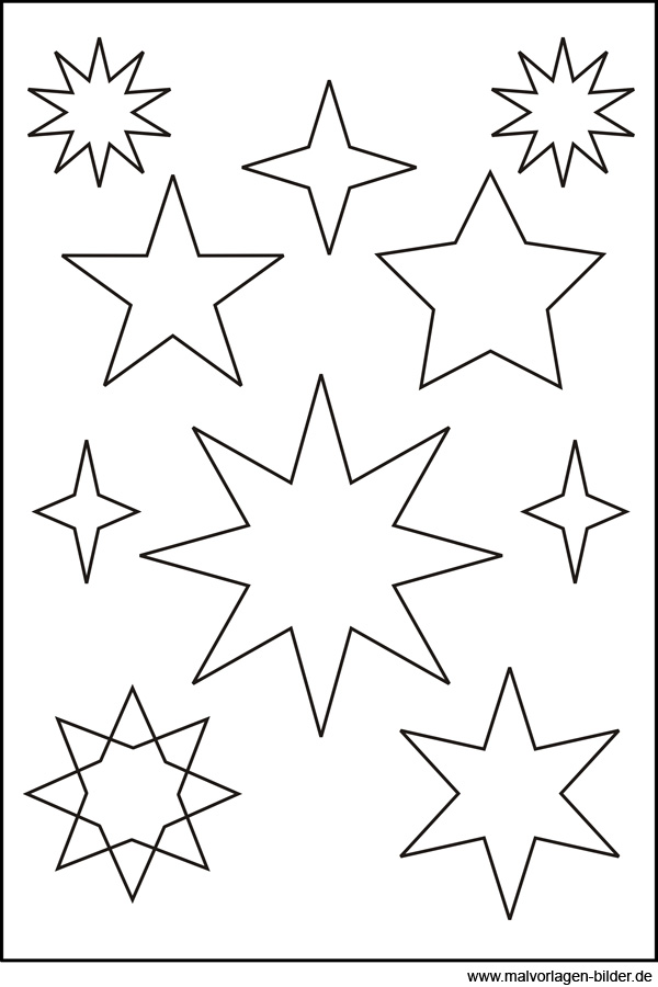 Sternenvorlage zum Ausdrucken und Ausschneiden