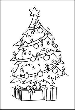 gratis malvorlagen christbaum | coloring and malvorlagan