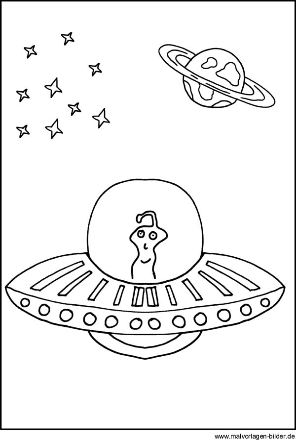 ausmalbilder ufo