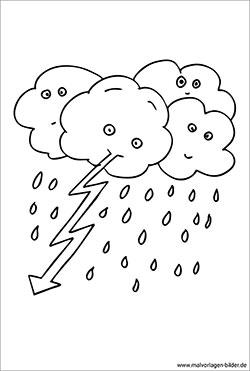 Wetter Malvorlagen Und Ausmalbilder Zum Ausdrucken