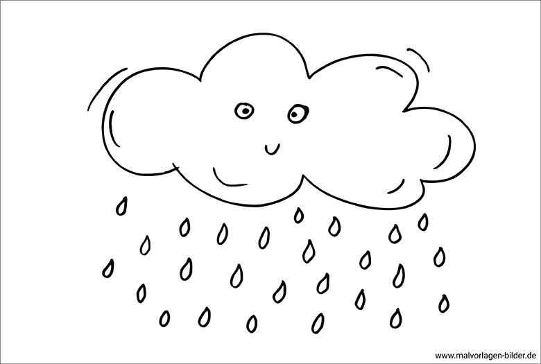 regenwolke  ausmalbild zum ausdrucken