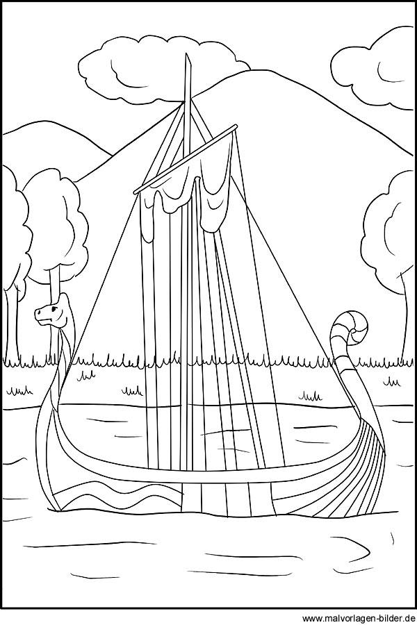 malvorlagen wickie schiff kostenlos  tippsvorlage