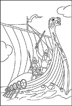 wikinger - malvorlagen ausmalbilder