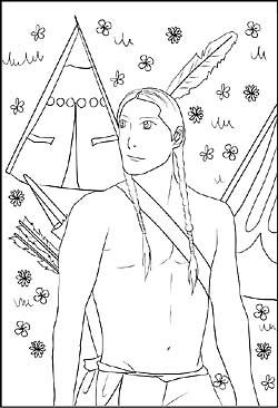 Malvorlagen und ausmalbilder cowboys und indianer indianer bilder zum kostenlosen download indianer motiv als ausmalbild zum ausdrucken altavistaventures Images