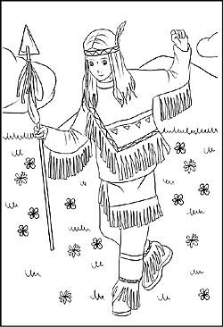 Malvorlagen und ausmalbilder cowboys und indianer zeichnung indianermdchen ausmalbild indianerkinder altavistaventures Images