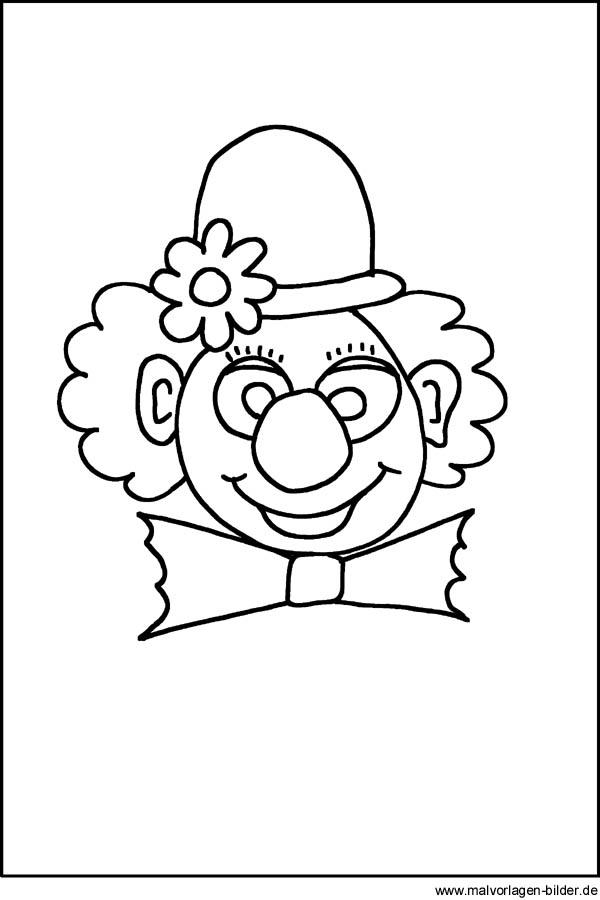 Clown - Gratis Ausmalbilder zum Ausdrucken für Kinder