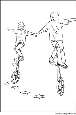 Zirkus Kostenlose Malvorlagen Und Ausmalbilder Für Kinder