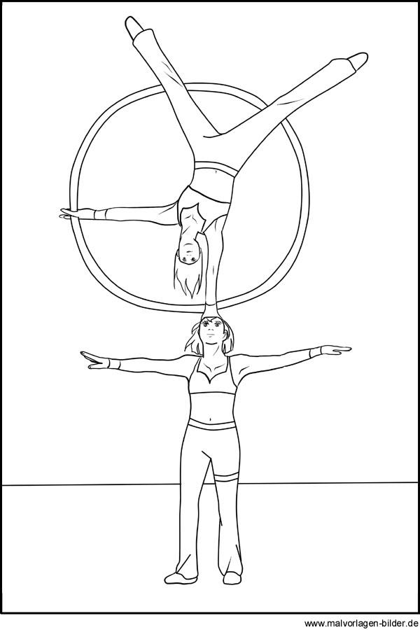 zirkus akrobaten  gratis ausmalbilder und malvorlagen