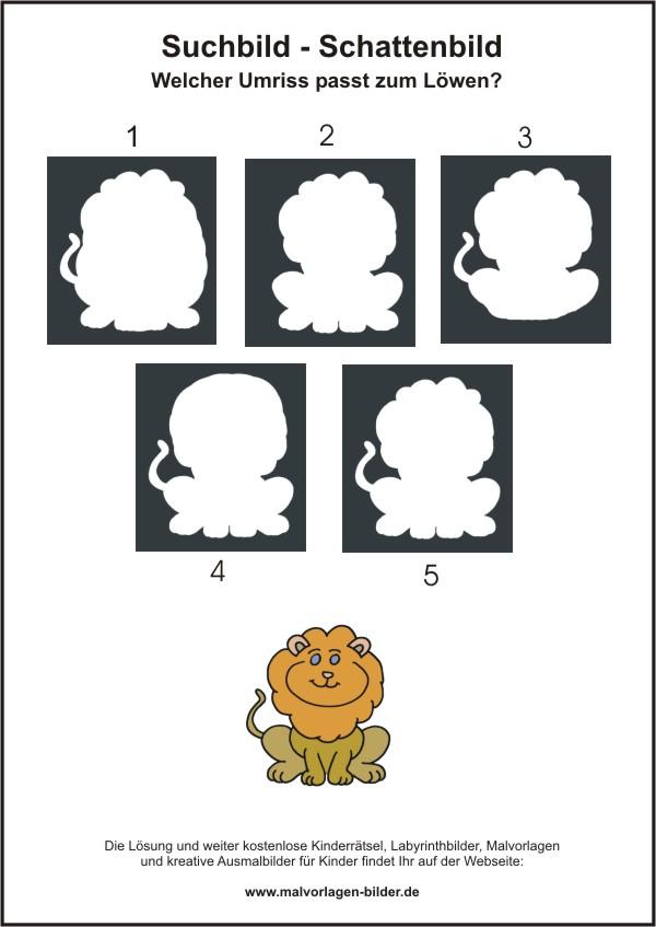 Löwe Kinderrätsel Zum Ausdrucken