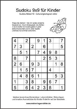 Kinder Sudoku Zum Ausdrucken Mit Losung