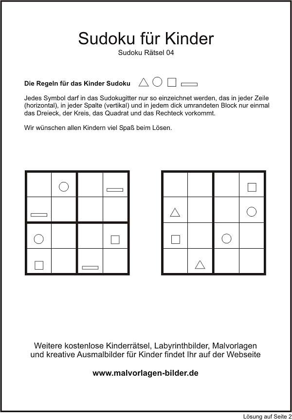 Kinder Sudoku mit Symbolen