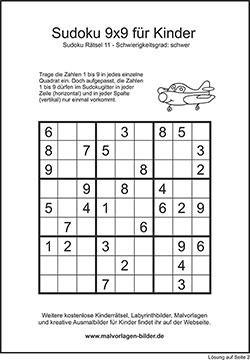 Kinder Sudoku Zum Ausdrucken Mit Lösung